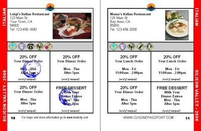 Sample Coupons.